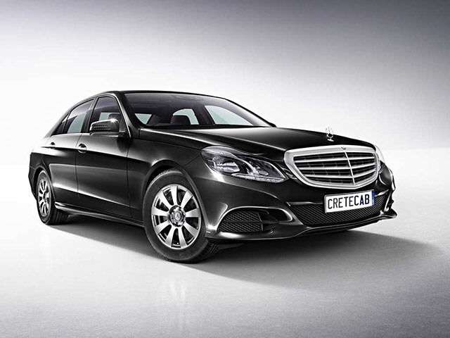 Mercedes E Class is our vip taxi in Crete
