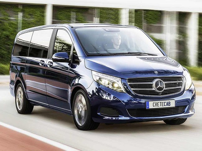 Mercedes Vito is our luxury van used for transfers